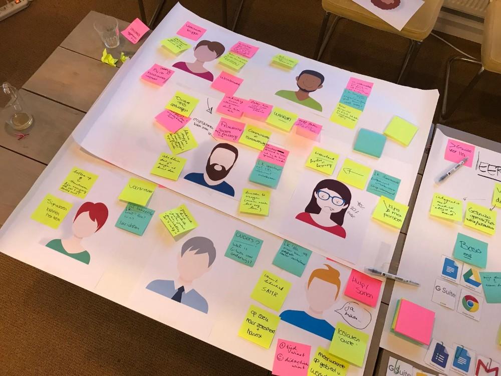 Brainstormen over leerroute G Suite met ervaringsdeskundigen