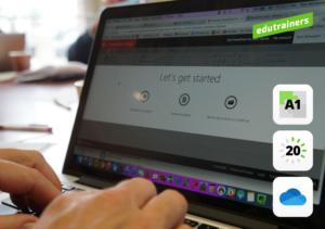 Laptop met Microsoft 365 OneDrive