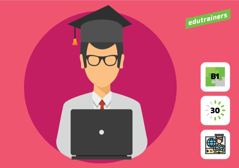 Afgestudeerde leerkracht op de laptop