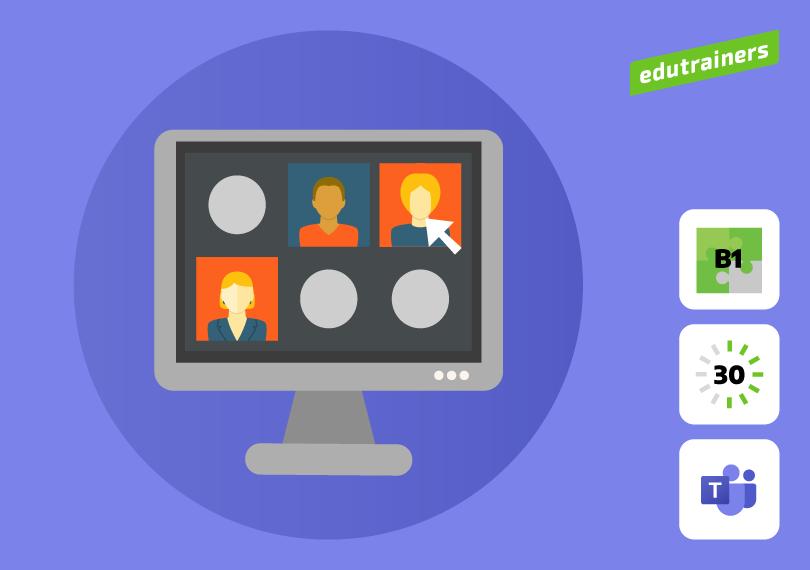 Groep met mensen in online meeting