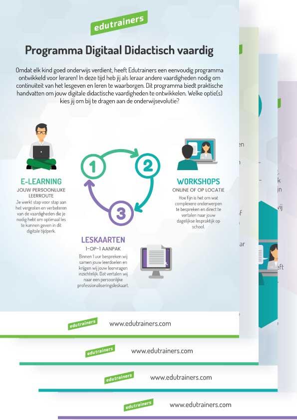 Flyer Programma Digitaal Didactisch Vaardig
